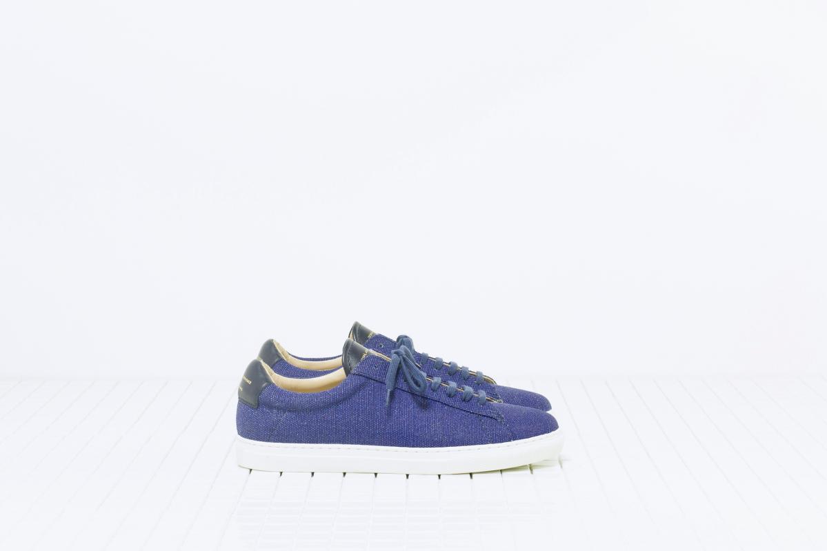 Chaussures en toile bleues Zespa